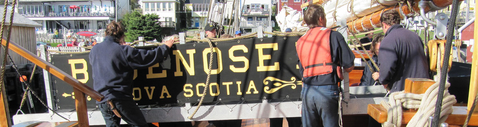 Crew working on the Bluenose II