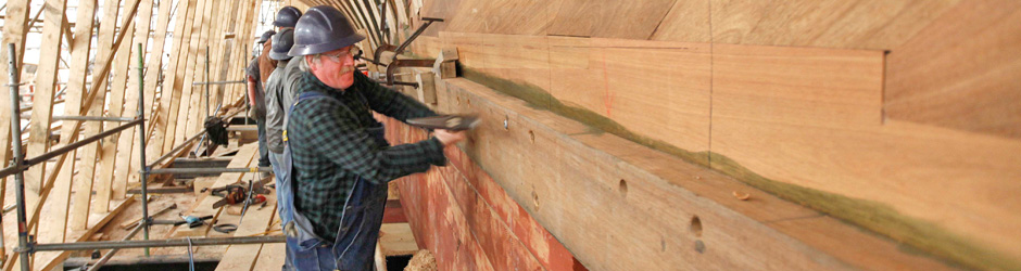 Ship builders working on restoring Bluenose II